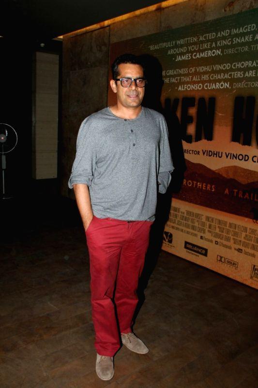 Filmmaker Subhash Kapoor during the special screening of Hollywood film Broken Horses in Mumbai on March 30, 2015. - Subhash Kapoor