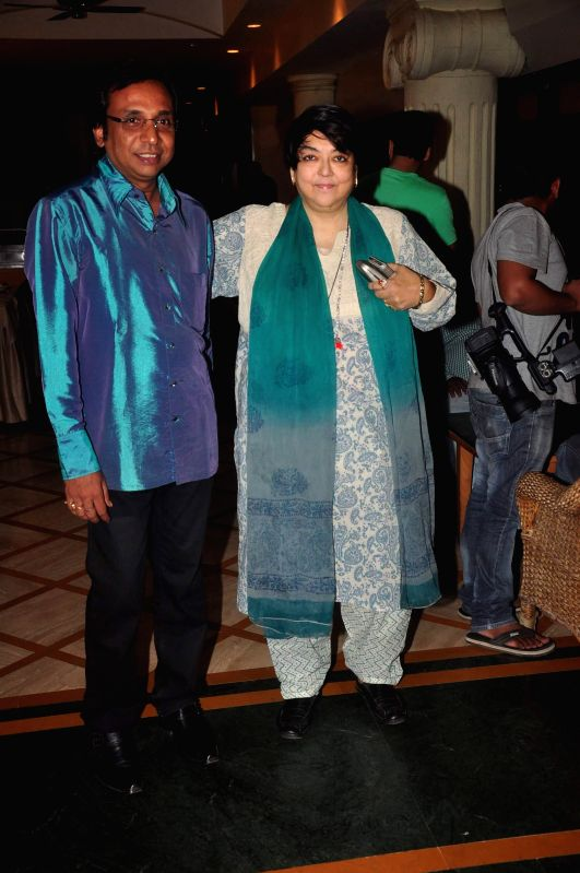 Filmmaker Sunanda Shyamal Mitra and Kalpana Lajmi during the music launch of film Extraordinaari in Mumbai on Dec 30, 2014. - Sunanda Shyamal Mitra