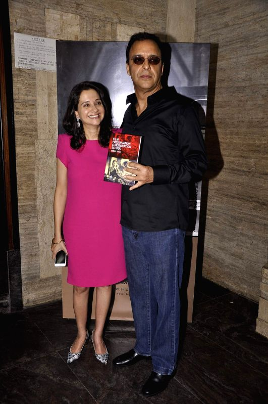 Filmmaker Vidhu Vinod Chopra along with his wife and film critic Anupama Chopra during the inauguration of a workshop organized by the Film Heritage Foundation entitled `Film Preservation and ... - Vidhu Vinod Chopra and Anupama Chopra