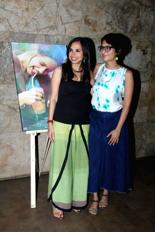 Filmmakers Kiran Rao and Sonali Bose during the special screening of film Margarita With A Straw in Mumbai on April 8, 2015. - Kiran Rao and Sonali Bose