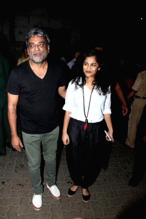 Filmmakers R Balki and Gauri Shinde at the party hosted by Deepika padukone for the succes of film Piku, in Mumbai, on May 18, 2015. - R Balki and Gauri Shinde