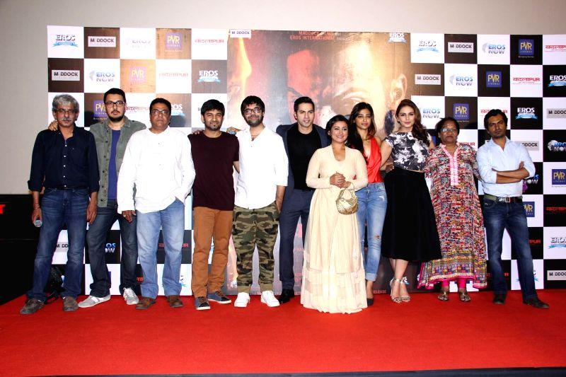 Filmmakers Sriram Raghavan, Dinesh Vijan, actor Zakir Hussain, singers Sachin Sanghvi, Jigar Saraiya, Varun Dhawan, Divya Dutta, Radhika Apte, Huma Qureshi, Pratima Kannan and ... - Zakir Hussain, Sriram Raghavan and Dinesh Vijan