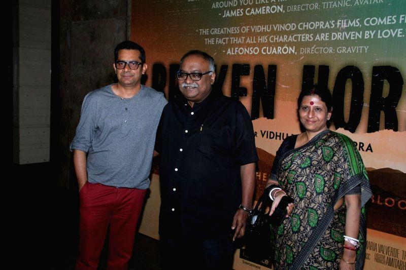 Filmmakers Subhash Kapoor and Pradeep Sarkar during the special screening of Hollywood film Broken Horses in Mumbai on March 30, 2015. - Subhash Kapoor and Pradeep Sarkar