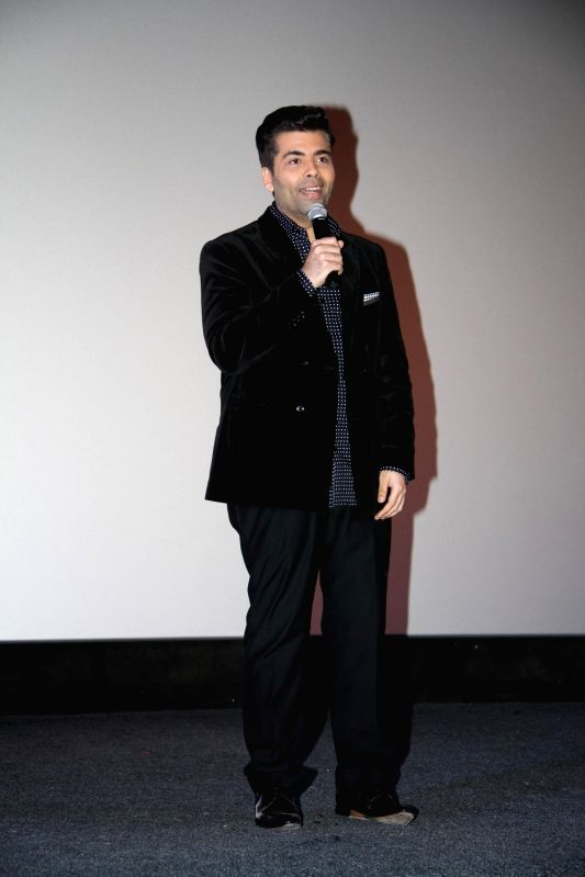 Fimmaker Karan Johar during the trailer launch of film Baahubali in Mumbai on June 1, 2015.