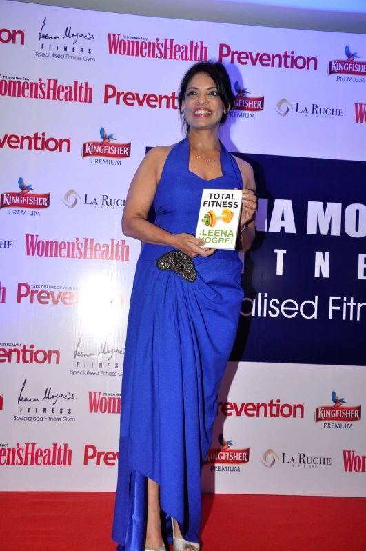 Fitness expert Leena Mogre during the book launch of Fitness expert Leena Mogre `Total Fitness`, in Mumbai, on April 30, 2015.