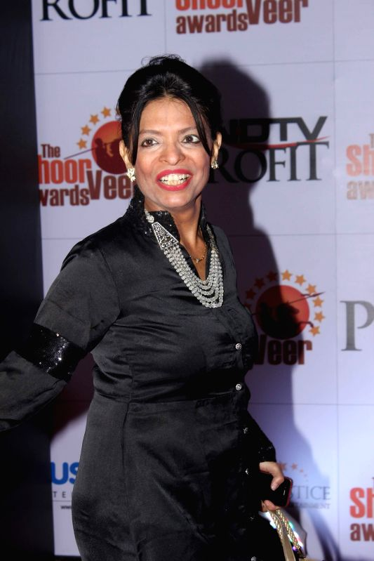 Fitness trainer Leena Mogre during the The Shoorveer Awards 2015 in Mumbai on March 14, 2015.