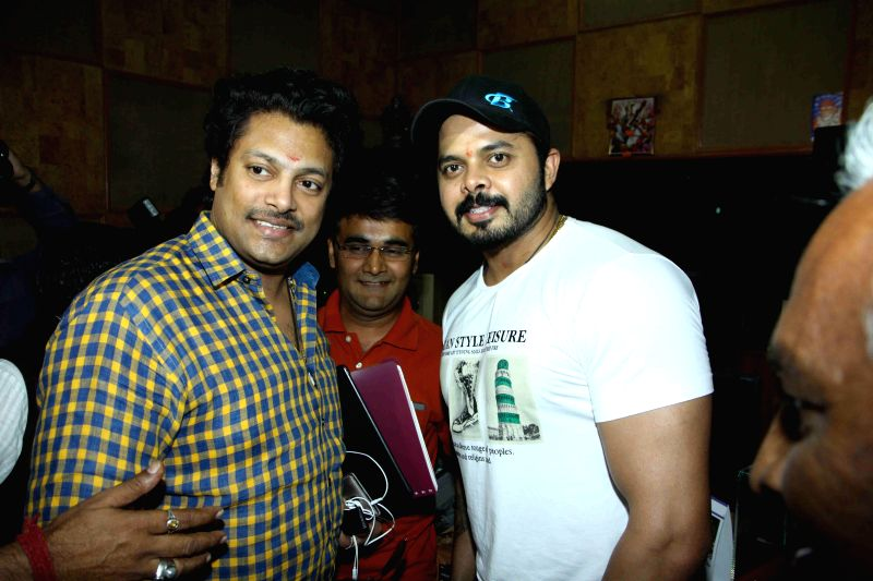 Former cricketer S Sreesanth during the song recording of film Woh Kaun Thi in Mumbai on March 12, 2015.