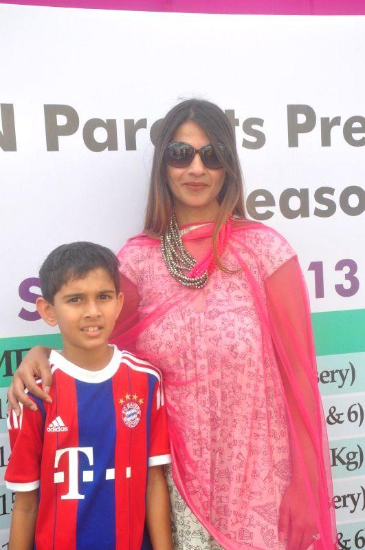 Former Indian cricketer Ajit Agarkar's wife Fatima Agarkar during the JPPL cricket league organized by Fatima Agarkar in Mumbai, on December 13, 2014.