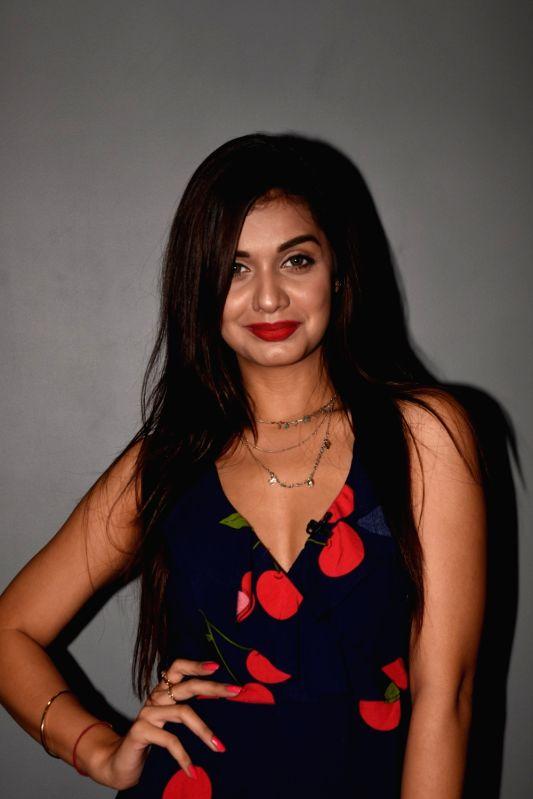 Mumbai: Former Splitsvilla X contestant Divya Agarwal during a programme in Mumbai on July 18, 2018.