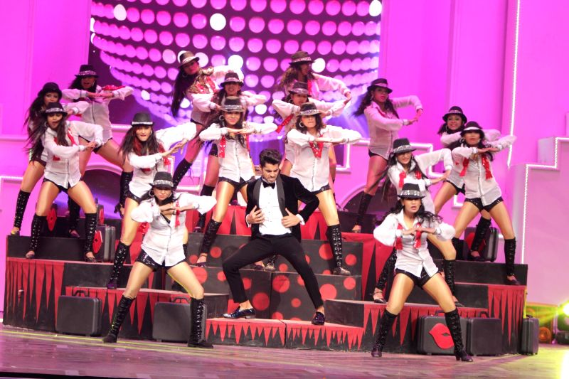 Gautam Gulati grooving to the pappi song during the Television Style Award 2015 in Mumbai, on March 13, 2015.