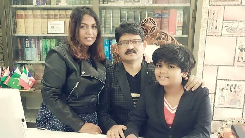 Mumbai girl Zen G. Sadavarte with parents Gunratan Sadavarte and Jayshri Patil-Sadavarte.