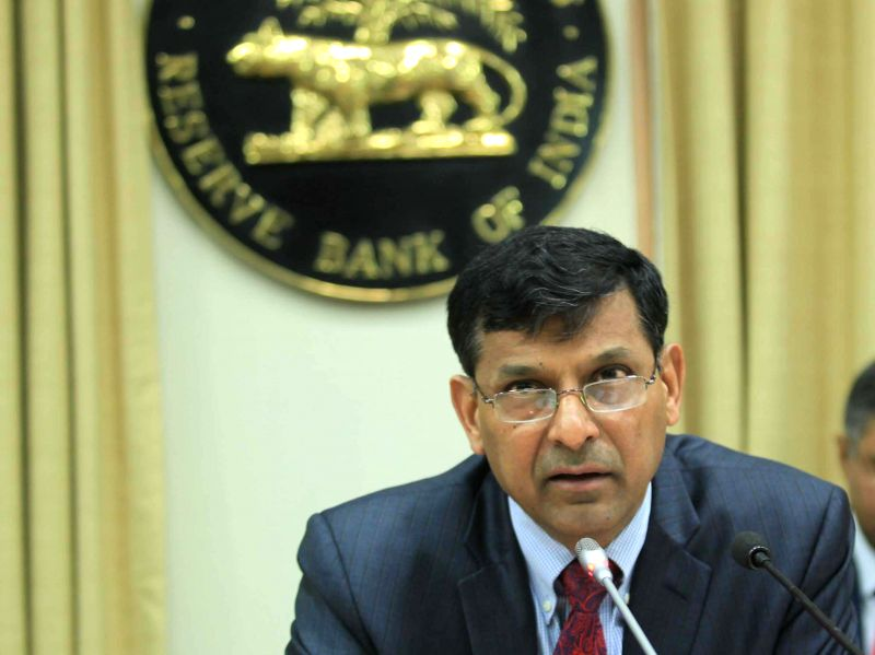 Governor Raghuram Rajan, addressing a press conference to announce the RBI monetary policy at RBI head quarter on Feb. 3, 2015.