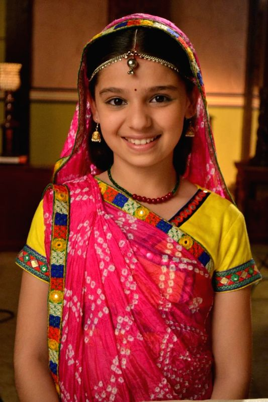 Gracy Goswami as Nimboli during the press conference to announce the 11year leap in Colors TV show Balika Vadhu in Mumbai on March 3, 2015. - Gracy Goswami