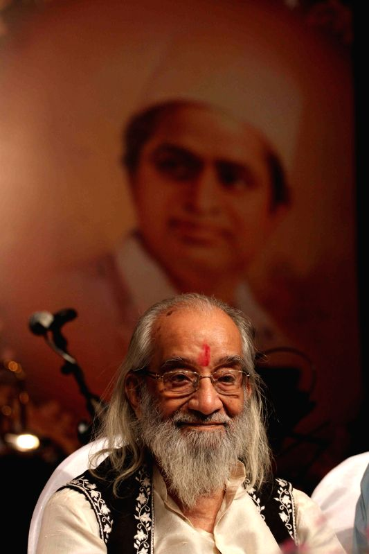 Historian Babasaheb Purandare during the Master Dinanath Mangeshkar Awards in Mumbai on April 24, 2015.