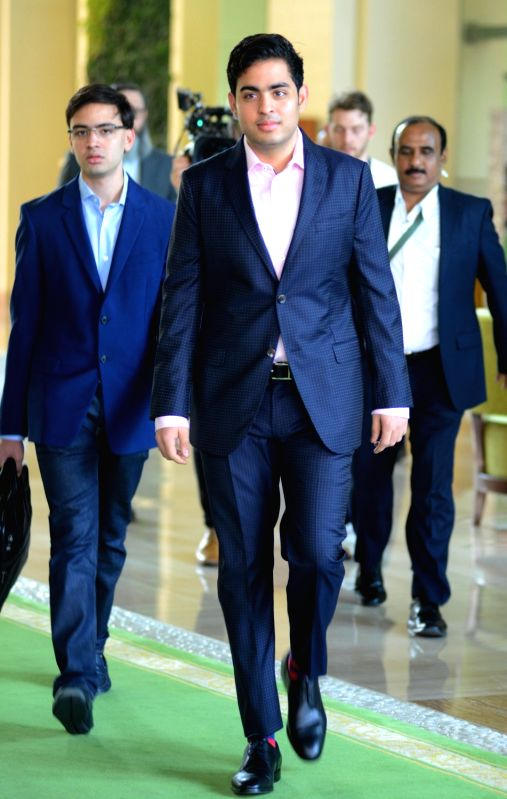 Mumbai Indians co-owner Akash Ambani arrives to attend Indian Premier League (IPL) Players' Auction in Bengaluru on Jan 28, 2018. - Akash Ambani
