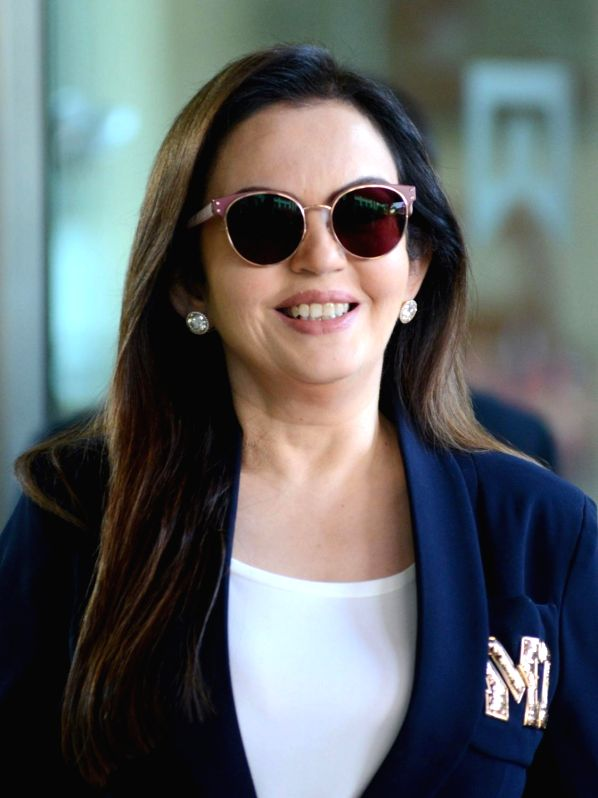 Mumbai Indians co-owner of Neeta Ambani arrives to attend Indian Premier League (IPL) Players' Auction in Bengaluru on Jan 28, 2018. - Neeta Ambani
