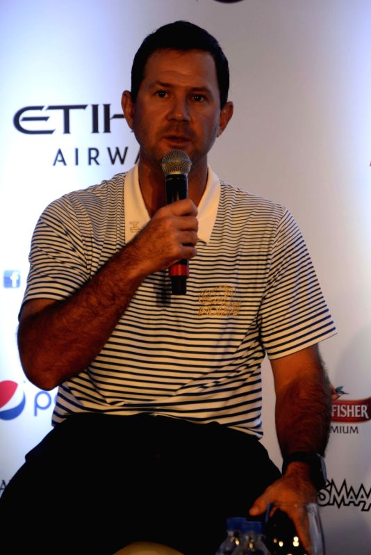 Mumbai Indians head coach Ricky Ponting address a press conference  in Mumbai, on April 7, 2016.