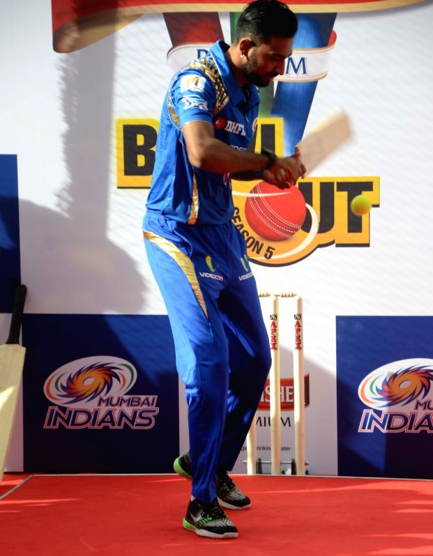 Mumbai Indians player Krunal Pandya during a promotional event in Mumbai on May 17, 2016.