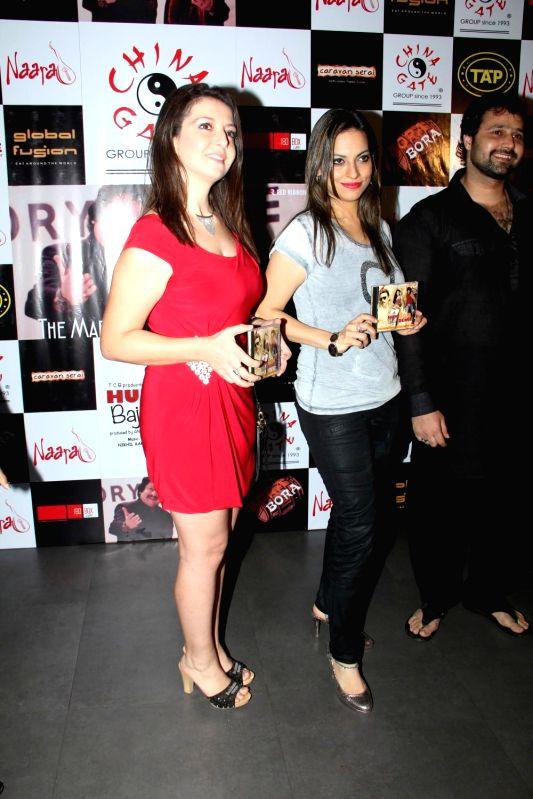 Italian opera singer Gioconda Vessichelli and singer Preeti Bhalla during the music launch of film Hum Baaja Baja Denge in Mumbai, on March 17, 2015.