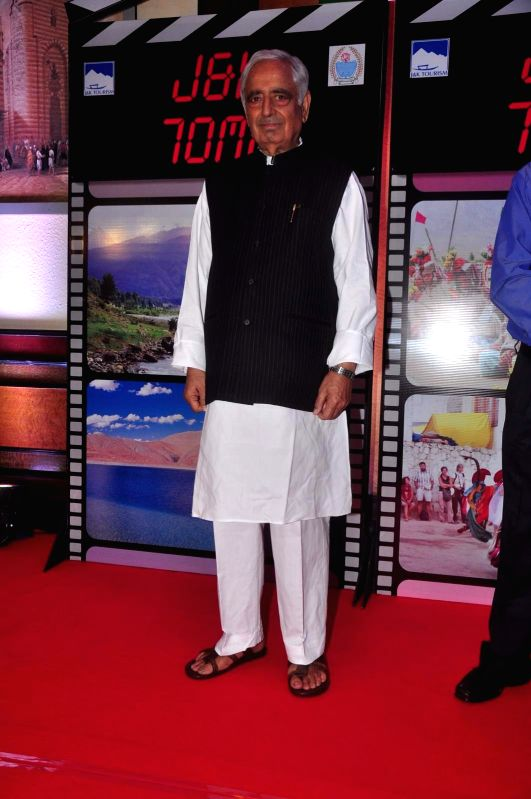 Jammu and Kashmir Chief Minister Mufti Mohammad Sayeed during an event organised by Jammu and Kashmir government to promote J&K as a prime tourist destination and a shooting location for ... - Mufti Mohammad Sayeed
