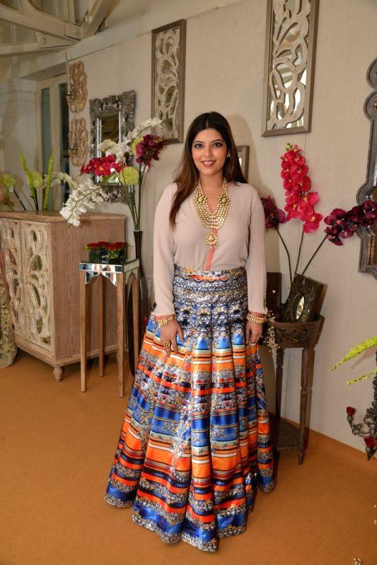 Jasmine Dhillon Hansraj during the media preview for Bridal Asia show hosted by Divya & Dhruv Gurwara with fashion designers Shane & Falguni Peacock in Mumbai on April 1, 2015.