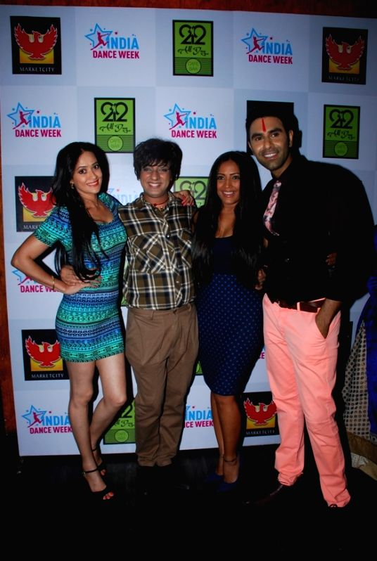 Jasveer Kaur, Rohit Verma, Meghna Naidu, Sandip Soparrkar during the grand finale of second edition of India Dance Week in Mumbai on April 26, 2015. - Jasveer Kaur, Rohit Verma and Meghna Naidu