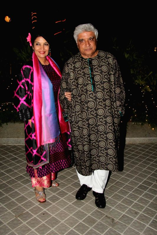 Javed Akhtar during the birthday party of Farah Khan in Mumbai, on jan. 08, 2015.