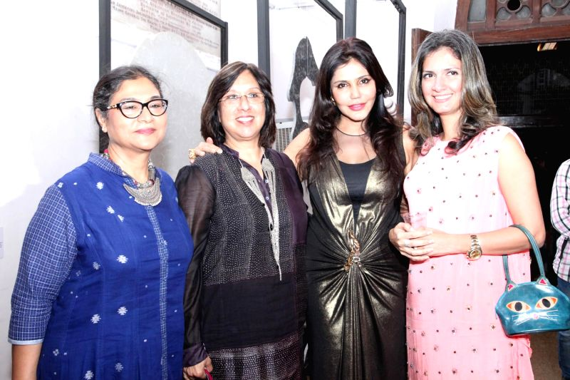 Jayasri Burman, Geetha Mehra, Socialite Nisha Jamvwal and Ronitaa Italia Dhanu, Editor, GoodHomes India during the announcement of the third edition of GoodHomes for Art in Mumbai, on Nov 27,