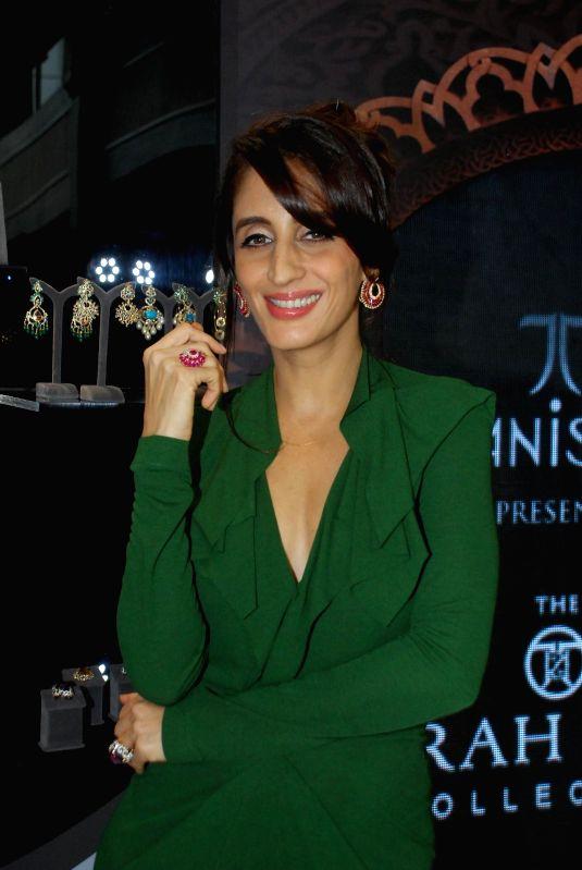 Jewellery designer Farah Khan Ali during the launch of The Farah Khan for Tanishq collection in Mumbai, on Nov 21, 2014. - Farah Khan Ali