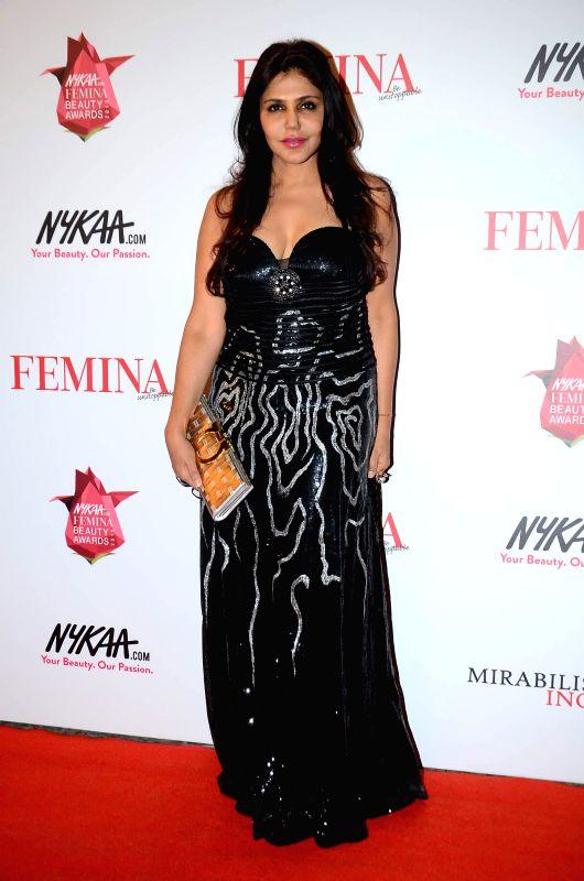 Jewellery designer Nisha Jamvwal during the Nykaa.com Femina Beauty Awards 2015 in Mumbai, on Feb 11, 2015.