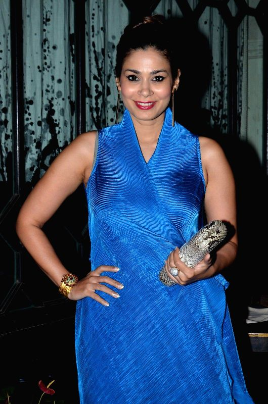 Jewellery designer Shaheen Abbas during the launch of Zulekha`s collection in Mumbai, on Dec. 15, 2014.