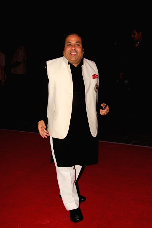 Journalist, political commentator during Shatrugan Sinha's son Kush wedding reception in Mumbai, on Jan. 19, 2015. - Shatrugan Sinha