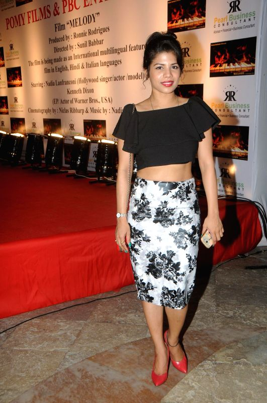 Jugnu Ishique during the launch of film Melody in Mumbai, on November 20, 2014.