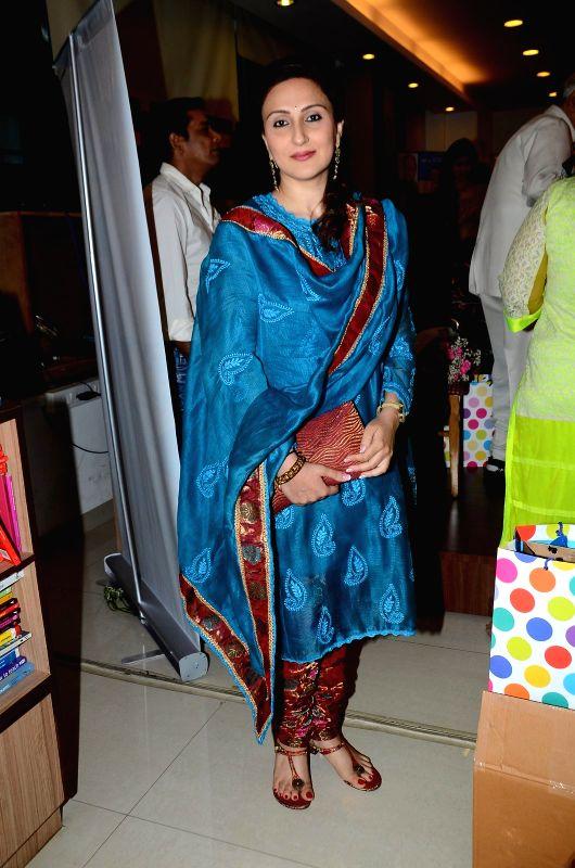 Juhi Babbar during the book launch of Susheela Pathak`s `Great Grandma`s Kitchen Secret` in Mumbai on  March 29, 2015.