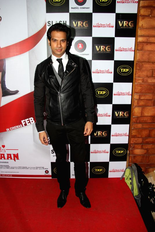 Karan Mehra during music launch of film Badmashiyaan in Mumbai on Feb. 4, 2015.