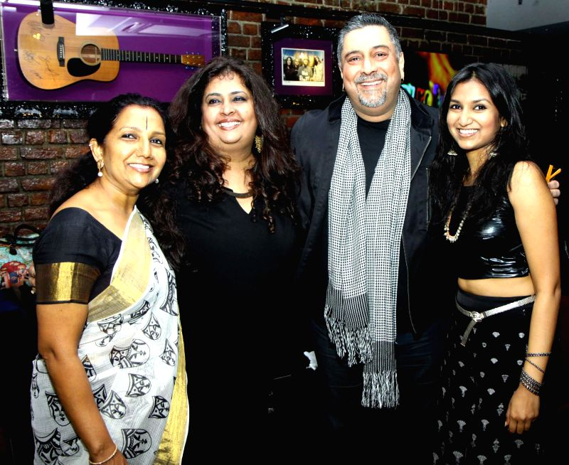 Kaushalya Reddy, Maya, Ranjit Barot and Bhavana Reddy during the launch of her music album Tangled in Emotion in Mumbai on Feb 06, 2015. - Kaushalya Reddy and Bhavana Reddy