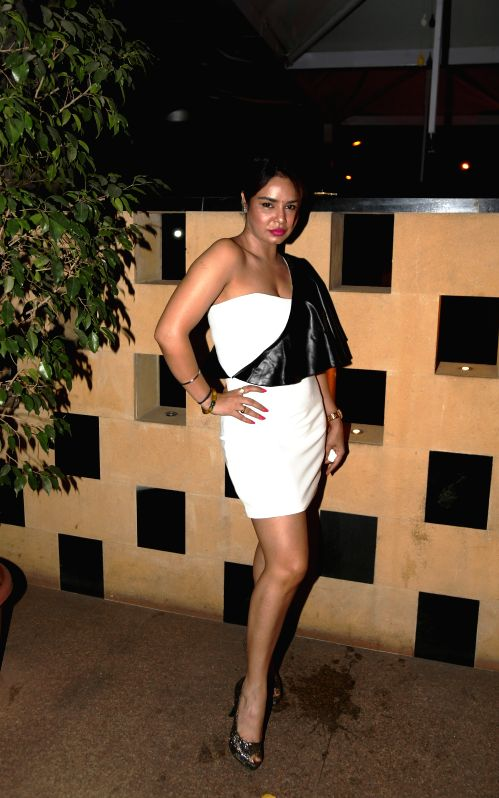 Kavitta Verma during the film Bumper Draw completion party in Mumbai on April 26, 2015. - Kavitta Verma