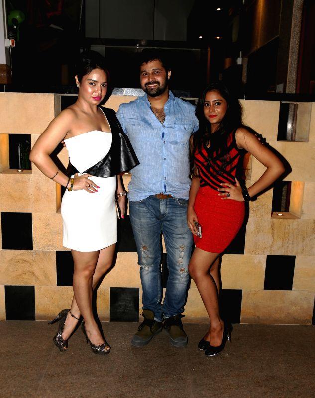 Kavitta Verma, Mudasir Ali and Afrin Shaikh during the film Bumper Draw completion party in Mumbai on April 26, 2015. - Kavitta Verma