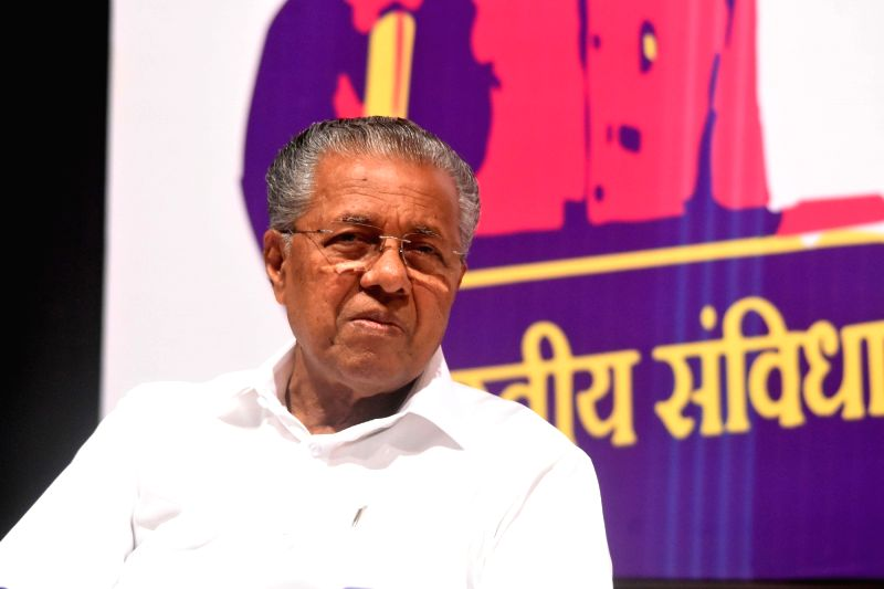 Mumbai: Kerala Chief Minister Pinarayi Vijayan ats 'Mumbai Collective', in Mumbai on Feb 2, 2020. (Photo: IANS)