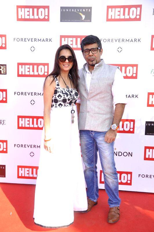Khushnuma and Arzan Khambatta during the Hello Classic Cup at Mahalaxmi Race Course in Mumbai on Feb. 8, 2015.