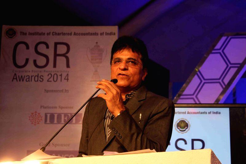 Kirit Somaiya, MP, Bharatiya Janata Party (BJP) during the ICAI CSR Awards 2014 in Mumbai, on Feb 5, 2015.