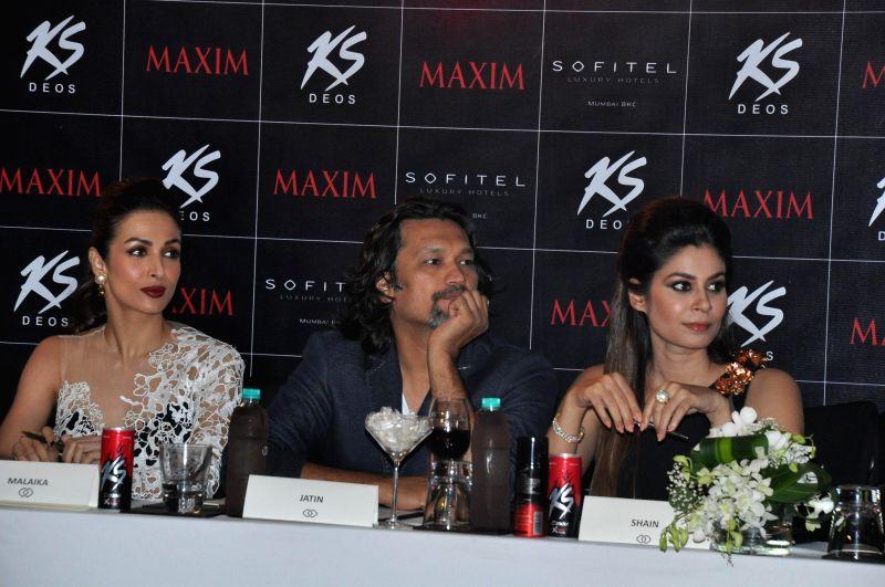 (L to R) Jury members Malaika Arora Khan, Jatin Kampani and Shaheen Abbas during the Grand Finale of Miss Maxim 2015 in Mumbai on Dec 21, 2014. - Malaika Arora Khan