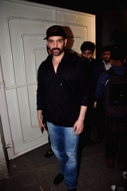 Luv Sinha, brother of actor Sonakshi Sinha during the screening of film Action Jackson in Mumbai, on December 4, 2014. - Sonakshi Sinha and Luv Sinha