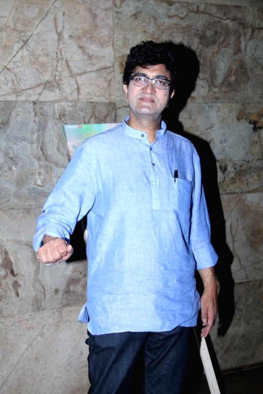Lyricist Prasoon Joshi during the special screening of film Margarita With A Straw in Mumbai on April 8, 2015. - Prasoon Joshi