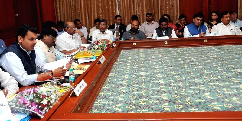 Maharashtra Chief Minister Devendra Fadnavis during all party meeting in Mumbai on Nov. 20, 2014.