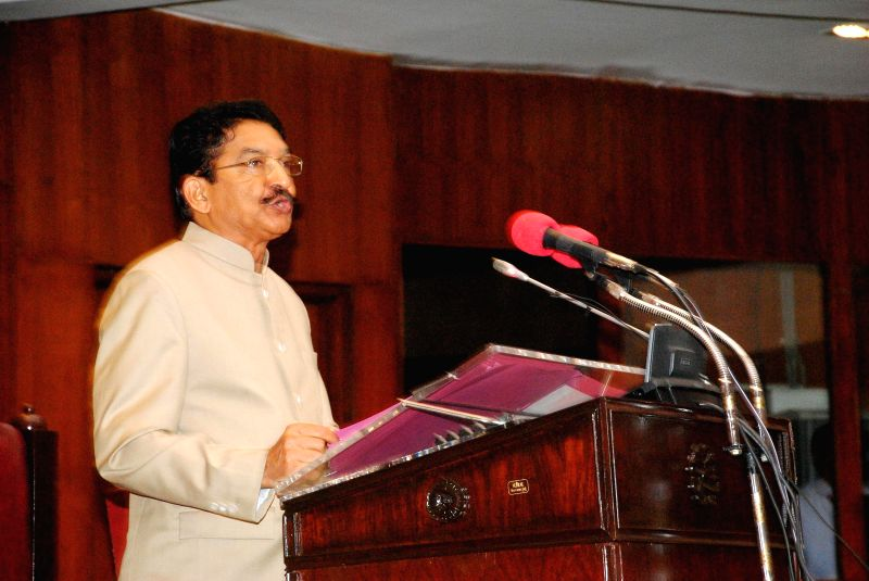 Maharashtra Governor Chennamaneni Vidyasagar Rao addresses a joint session of  Maharashtra Legislative Council and  Maharashtra Legislative Assembly in Mumbai, on Nov 12, 2014. - Chennamaneni Vidyasagar Rao