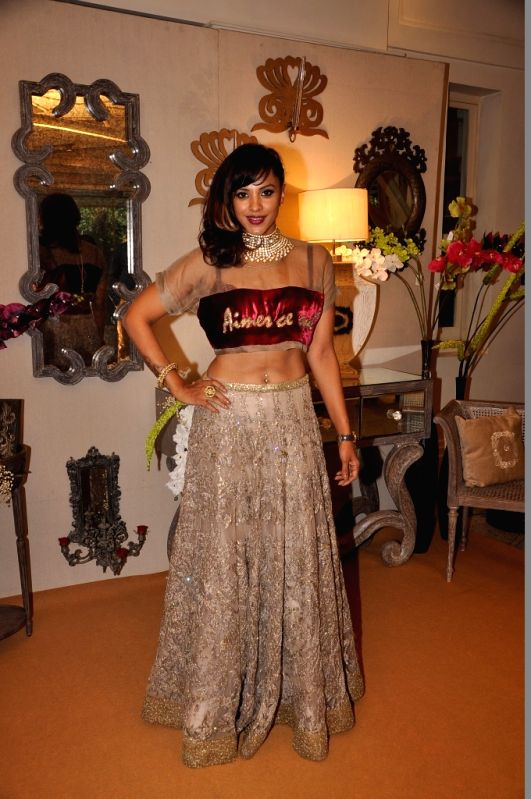 Manasi Scott during the media preview for Bridal Asia show hosted by Divya & Dhruv Gurwara with fashion designers Shane & Falguni Peacock in Mumbai on April 1, 2015.
