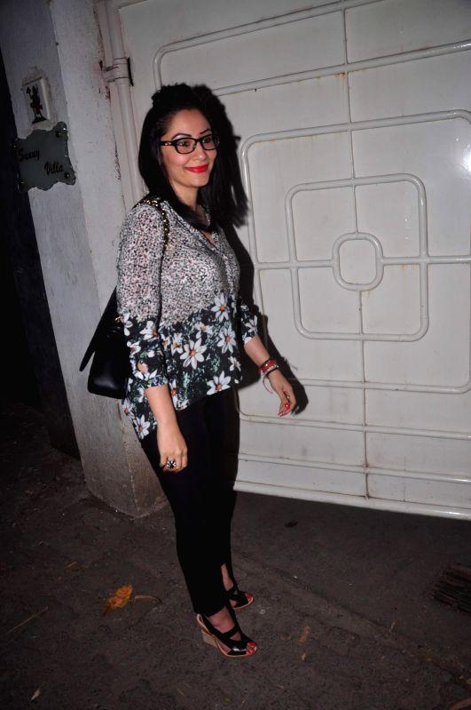 Manyata Dutt during the screening of film Action Jackson in Mumbai, on December 4, 2014. - Manyata Dutt