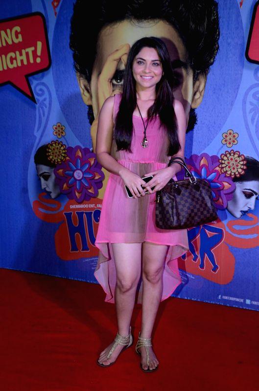 Marathi actor Sonali Kulkarni during the premiere of film Hunterrr in Mumbai on March 17, 2015. - Sonali Kulkarni