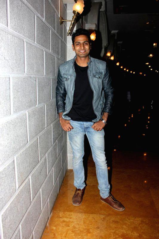 Marathi actor Vaibhav Tatwawadi, during the music launch of Marathi film Coffee Ani Barach Kahi in Mumbai, on March 10, 2015. - Vaibhav Tatwawadi